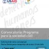 Convocatoria Programa para la Sociedad Civil
