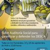 Talleres Auditoría social para garantizar y defender los derechos económicos, sociales, culturales y ambientales.