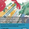 """FORO """"Por la defensa y exigencia de los DESCA en SLP"""""""