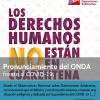 PRONUNCIAMIENTO DEL OBSERVATORIO NACIONAL SOBRE DETENCIONES ARBITRARIAS FRENTE A LA PANDEMIA DEL COVID-19