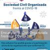 """Informe Encuesta: """"Sociedad civil organizada frente al COVID-19. Impacto, retos y acciones de resiliencia"""""""